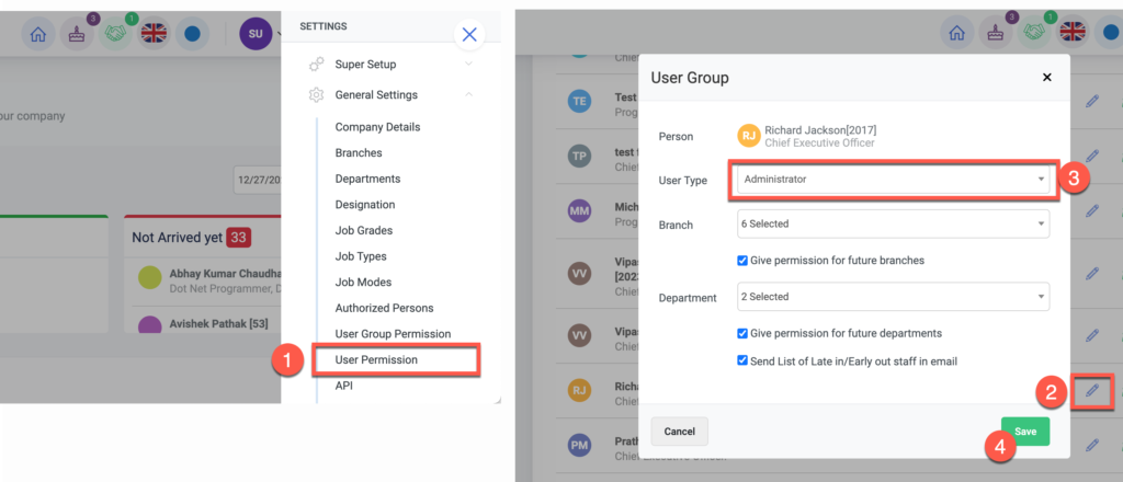 How to create admin users in Cloud HR.