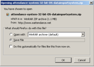 attendance-system-data-import-download