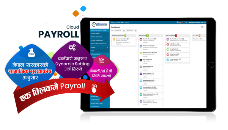 Time Attendance, leave management & payroll system
