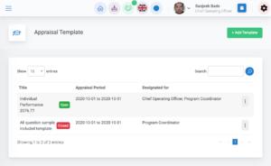 Performance Appraisal template for Cloud HR